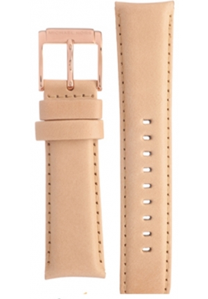 Michael Kors Strap MK2283 Mercer Strap Beige Leather Strap 22mm