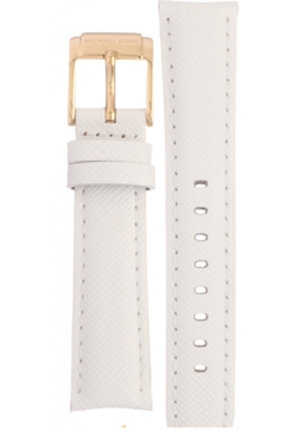 Michael Kors Strap MK2302 Bradshaw Mini Strap White leather strap 18mm