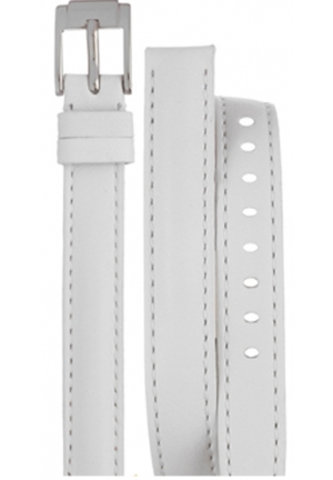 Michael Kors Strap MK2325 Runway Slim Strap White Double Wrap Leather Strap 12mm