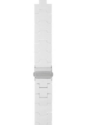 Michael Kors Strap White Plastic coated stainless steel bracelet 20mm