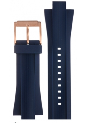 Michael Kors Strap MK8295 Dylan Big Strap Blue rubber strap 26mm