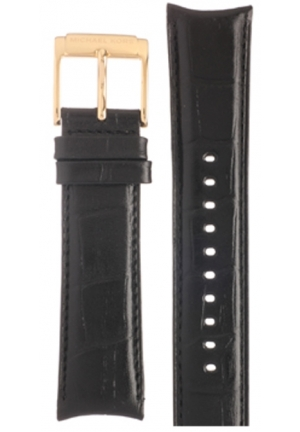 Michael Kors Strap MK8308 Brookton Big Strap Black Leather Strap 22mm