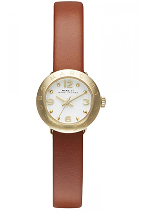 Amy Dinky Gold Tone Tan Leather 20mm