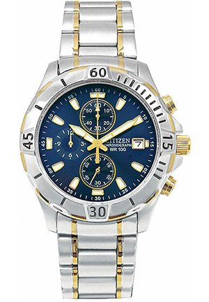 Men's Chronograph Two Tone Stainless Steel Bracelet 41mm