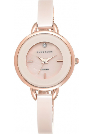 ANNE KLEIN PINK CERAMIC BANGLE WATCH 32MM