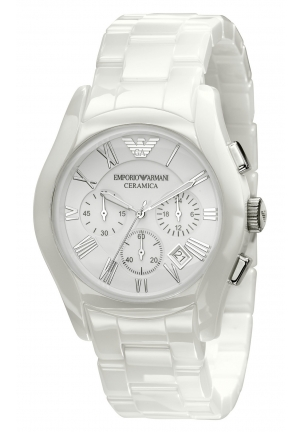 EMPORIO ARMANI Men's Chronograph White Ceramic Bracelet 42mm
