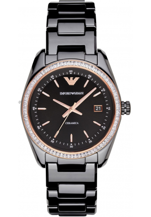LADIES TAZIO CERAMICA BLACK WATCH
