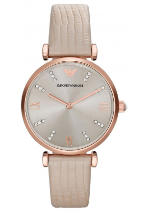 CLASSIC WATCH RETRO WARM GREY DIAL BEIGE LEATHER STRAP LADIES WATCH