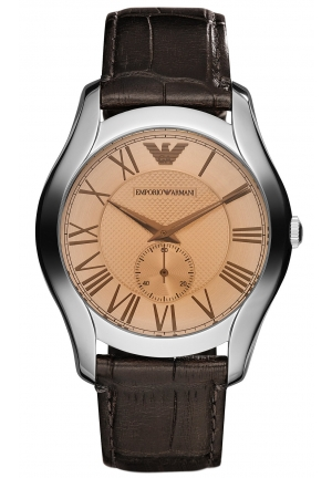 EMPORIO ARMANI XX Dark Brown Croco Leather Strap 43mm