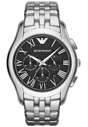 EMPORIO ARMANI Unisex Chronograph Stainless Steel Bracelet Watch 45mm