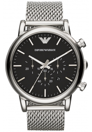 EMPORIO ARMANI Men's Chronograph Stainless Steel Mesh Bracelet Watch 46mm
