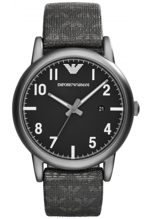 EMPORIO ARMANI Men's Dark Eagle Print Strap Watch 41mm