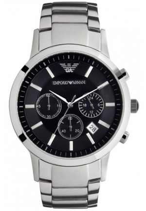 EMPORIO ARMANI Chronograph Stainless Steel Watch 43mm