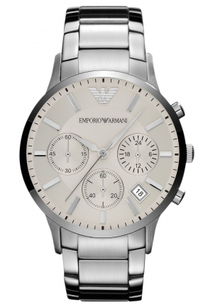 EMPORIO ARMANI Men's Chronograph Stainless Steel Bracelet 43mm