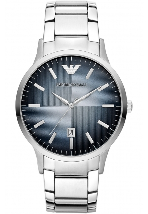 EMPORIO ARMANI Unisex Renato Stainless Steel Bracelet Watch 43mm