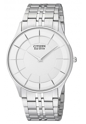 Citizen Eco Drive Ultra Slim White Dial Stainless Steel Watch 36mm