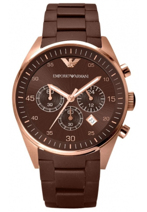 Emporio Armani Sport Chronograph Brown Dial Men's Watch. AR5890‎