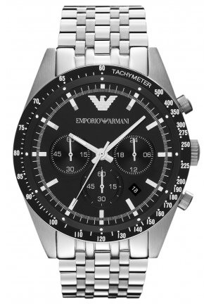 EMPORIO ARMANI Men's Chronograph Stainless Steel Bracelet 46mm