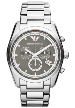 EMPORIO ARMANI Unisex Chronograph Stainless Steel Bracelet Watch 43mm