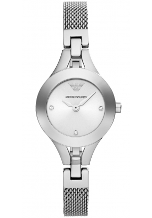 EMPORIO ARMANI Chiara Women's Stainless Steel Mesh Bracelet Watch 26mm