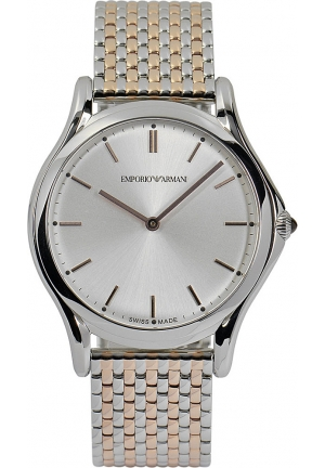Emporio Armani Unisex Swiss Two-Tone Stainless Steel Bracelet Watch 36mm