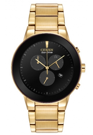 Citizen Men's Axiom Eco-Drive Gold-Tone Bracelet Watch
