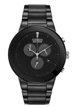"Citizen Men's Eco-Drive ""Axiom"" Black Stainless Steel Watch"