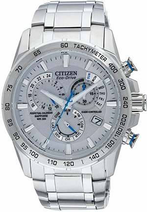 Men's Perpetual Chrono A-T Stainless Steel Bracelet 42mm
