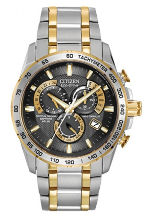 "Citizen Men's ""Perpetual Chrono A-T"" Two-Tone Stainless Steel Watch"