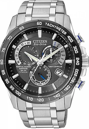 Men's Chronograph Eco-Drive Titanium Bracelet 42mm