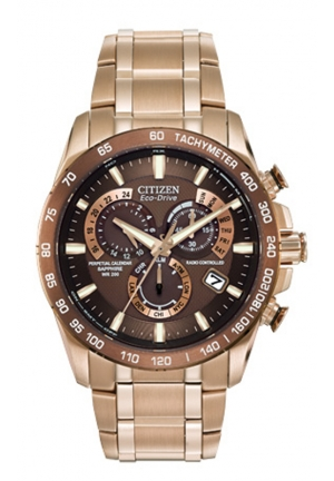 CITIZEN Eco-Drive Perpetual Atomic Clock Synchronization Dress Watch 42mm