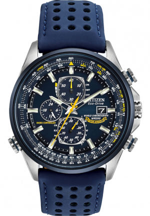 Eco Drive Blue Angels World Chronograph Men's Watch