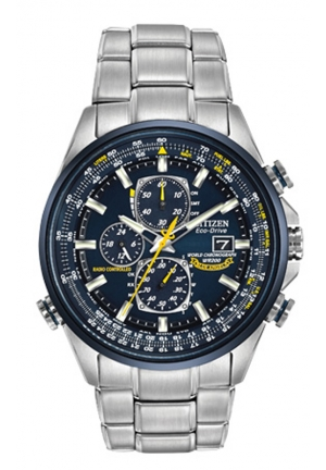 Citizen Men's Blue Angels Stainless Steel Eco-Drive Dress Watch