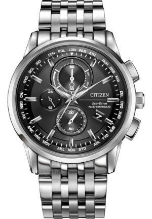World Chronograph A-T Eco-Drive Men's Watch