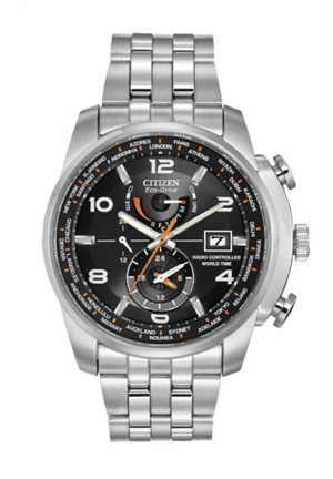 Citizen Men's World Time A-T Stainless Steel Eco-Drive Watch