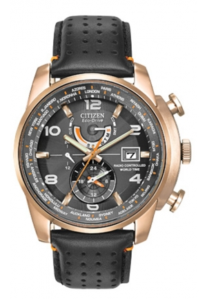 Citizen Men's Rose Gold-Tone Stainless Steel Eco-Drive Watch