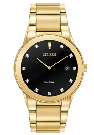 Citizen Men's Axiom Analog Display Japanese Quartz Gold Watch
