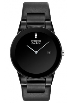 "Citizen Men's Eco-Drive ""Axiom"" Watch with Black Leather Strap"