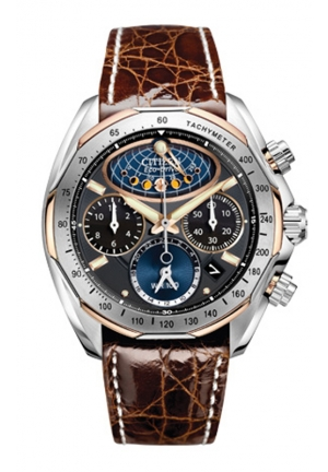 Citizen Men's The Signature Collection Eco-Drive Moon Phase Flyback Chronograph Watch