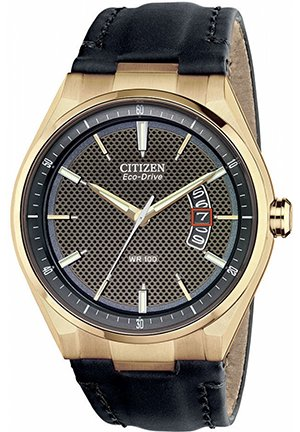 Men's Drive from Citizen Eco-Drive Black Leather Strap 42mm