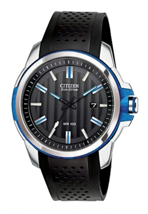 Citizen Men's Eco-Drive AR 2.0 Stainless Steel Watch with Black Polyurethane Band 44mm