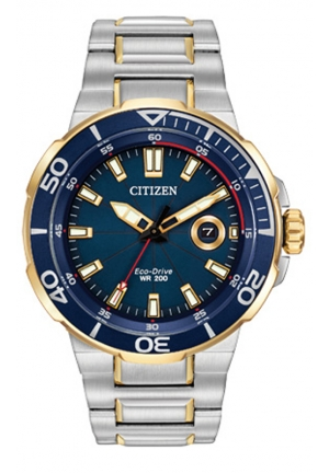Citizen Men's Endeavor Analog Display Japanese Quartz Two Tone Watch