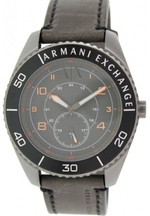 ARMANI EXCHANGE Gunnison Grey Dial Gunmetal Ion-plated Men's Watch