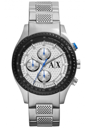 A|X ARMANI EXCHANGE Silver Dial Stainless Steel Mens Watch 45MM
