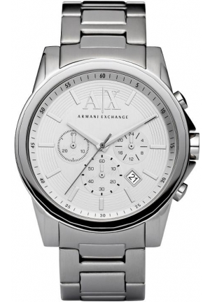 ARMANI EXCHANGE Silver-Tone Dial Chronograph Men's Watch