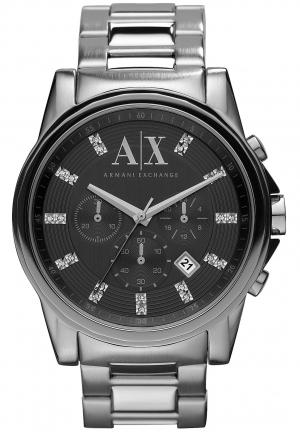 ARMANI EXCHANGE Armani AX Exchange Chronograph Grey Dial Stainless Steel Men's Watch