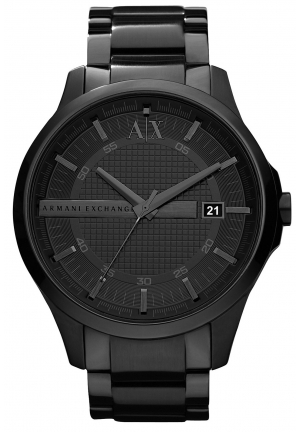 ARMANI EXCHANGE Hampton Black Dial Black Ion-plated Men's Watch