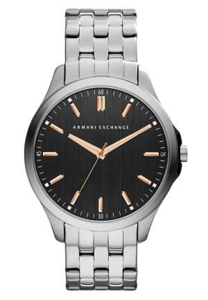A|X ARMANI EXCHANGE Black Dial Gunmetal Bracelet Men's Watch 45MM