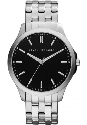 A|X ARMANI EXCHANGE Mens Black Silver Hampton LP Smart Watch 45mm