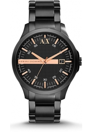 ARMANI EXCHANGE Black Dial Black Ion-plated Men's Watch